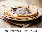stack og pancakes with... | Shutterstock . vector #84462808