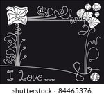 Vector Flower Black Background...