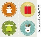 vector set  christmas labels | Shutterstock .eps vector #84468505