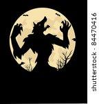 werewolf | Shutterstock .eps vector #84470416