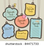 hanging tags  scrapbook... | Shutterstock .eps vector #84471733