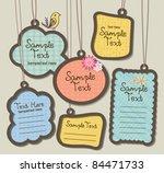 hanging tags  scrapbook... | Shutterstock .eps vector #84471733