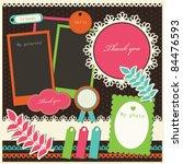 Set Of Cute Scrapbook Elements. ...