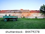 trailer next to an old building ...   Shutterstock . vector #84479278