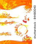 autumn set of design elements ... | Shutterstock .eps vector #84480040