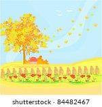 beautiful vector autumn... | Shutterstock .eps vector #84482467
