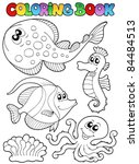 Coloring Book With Sea Animals...