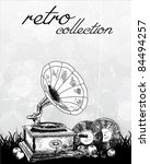 vintage gramophone   original... | Shutterstock .eps vector #84494257