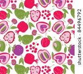summer tropic fruit | Shutterstock .eps vector #84496792