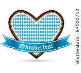 gingerbread heart with bavarian ... | Shutterstock .eps vector #84501712