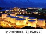 fuel tank at night | Shutterstock . vector #84502513
