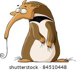 Ant Eater On A White Backgroun...