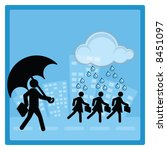 business concept   protection...   Shutterstock . vector #8451097