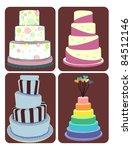 cakes | Shutterstock .eps vector #84512146