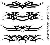 tattoo set | Shutterstock .eps vector #84513772