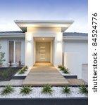 facade and entry to a... | Shutterstock . vector #84524776