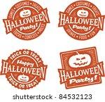 happy halloween party stamps | Shutterstock .eps vector #84532123