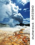 castle geyser in yellowstone... | Shutterstock . vector #84535840