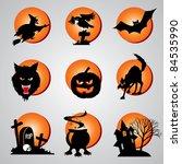 set vector symbol for halloween | Shutterstock .eps vector #84535990