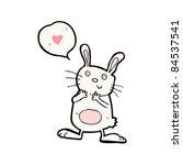 cartoon bunny rabbit in love | Shutterstock .eps vector #84537541