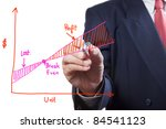 male hand drawing a growth graph | Shutterstock . vector #84541123