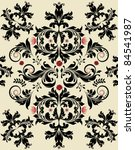 floral seamless pattern with... | Shutterstock .eps vector #84541987