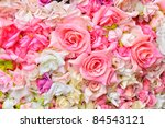 Stock photo artificial flowers background 84543121