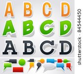 sticker or label style alphabet | Shutterstock .eps vector #84544450
