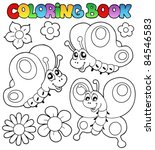 Coloring Book Three Butterflie...