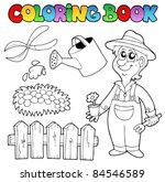 Coloring Book With Garden Topi...