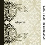 vintage invitation card with... | Shutterstock .eps vector #84547096