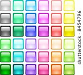 a lot of glossy buttons. vector ... | Shutterstock .eps vector #8454796