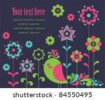 cute card with deco bird....