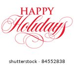 elegant holiday vector... | Shutterstock .eps vector #84552838