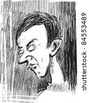 young man sketch illustration | Shutterstock . vector #84553489