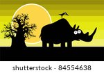 funny silhouette of african ...