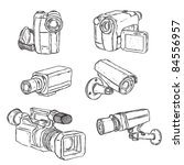 video cameras | Shutterstock .eps vector #84556957