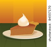 pumpkin pie with whipped cream  ... | Shutterstock .eps vector #84557170