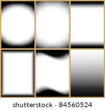 set of 6 halftone frame... | Shutterstock .eps vector #84560524