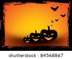 halloween grunge poster. vector ... | Shutterstock .eps vector #84568867