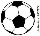 vector football ball  soccer  | Shutterstock .eps vector #84577741