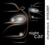 night car | Shutterstock .eps vector #84582889