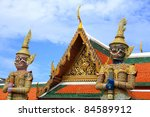 statue two gaurd giant at wat... | Shutterstock . vector #84589912