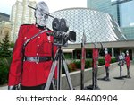 Stock photo toronto september unique installation for souvenir photos in front of roy thomson hall a 84600904