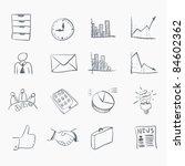 sketch icon set | Shutterstock .eps vector #84602362