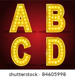 set alphabet design with lamps   Shutterstock .eps vector #84605998