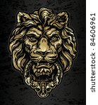 Gold Lion Door Knocker