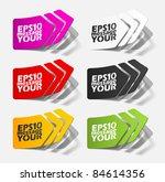 eps10  realistic design elements   Shutterstock .eps vector #84614356
