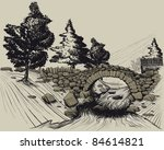 The Old Stone Bridge In The...