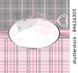 pink gray background with lace... | Shutterstock .eps vector #84626305
